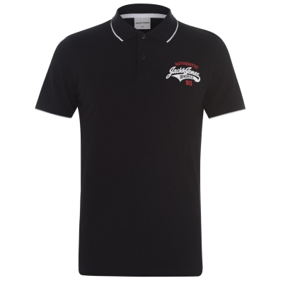Tricouri Polo Jack and Jones Core Heritage pentru Barbati negru