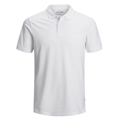Tricouri polo Jack and Jones Essentials pentru copii alb