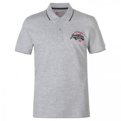 Tricouri Polo Jack and Jones Core Heritage pentru Barbati deschis gri marl