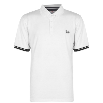 Tricouri Polo Lonsdale Jersey pentru Barbati alb bleumarin