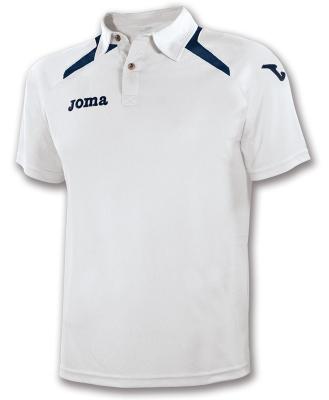 Tricouri polo Joma Champion II alb-bleumarin