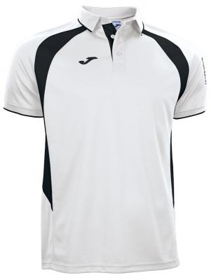 Tricouri polo Joma Champion III alb-negru cu maneca scurta