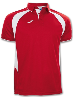 Tricouri polo Joma Champion III rosu-alb cu maneca scurta