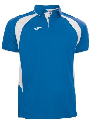 Tricouri polo Joma Champion III Royal-alb cu maneca scurta albastru roial