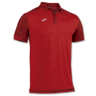 Tricouri Polo Joma Comfort rosu cu maneca scurta -bumbac-