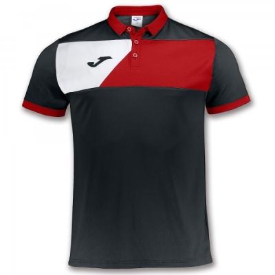 Tricou Joma sport Crew II II negru-rosu cu maneca scurta