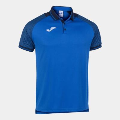 Tricouri polo Joma Essential II Royal-bleumarin inchis cu maneca scurta albastru roial
