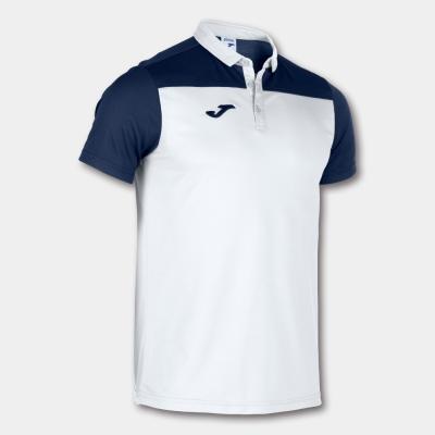 Tricouri Polo Joma Combi alb-bleumarin cu maneca scurta
