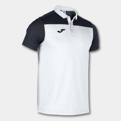 Tricouri Polo Joma Combi alb-negru cu maneca scurta