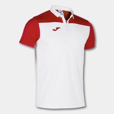 Tricouri Polo Joma Combi alb-rosu cu maneca scurta