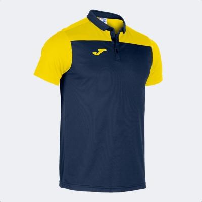 Tricouri Polo Joma Combi bleumarin-galben cu maneca scurta