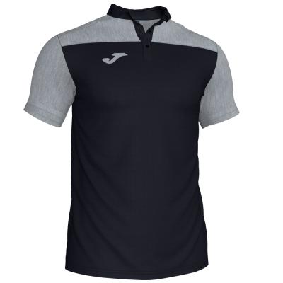 Tricouri Polo Joma Combi negru-gri cu maneca scurta