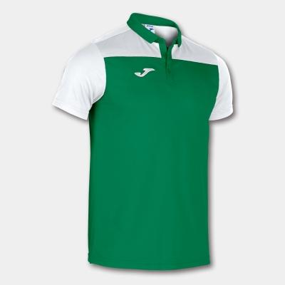 Tricouri Polo Joma Combi verde-alb cu maneca scurta