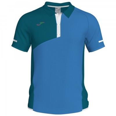 Tricouri Polo Joma Open II albastru cu maneca scurta inchis