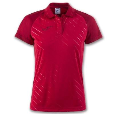 Tricouri polo Joma Torneo II cu maneca scurta rosu pentru Femei