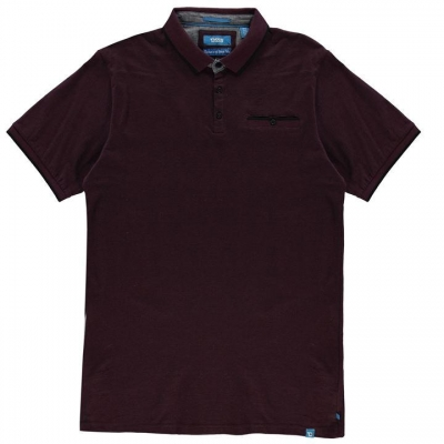 Tricouri Polo D555 Johan pentru Barbati rosu burgundy negru