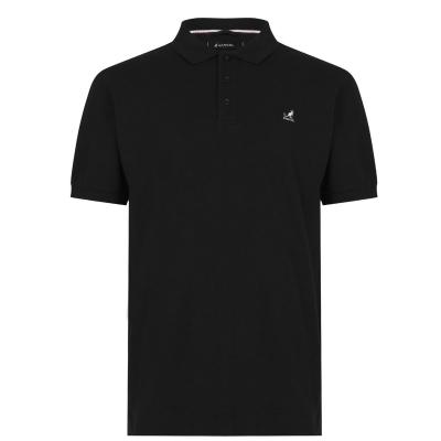 Tricouri Polo Kangol Brit Fit pentru Barbati negru