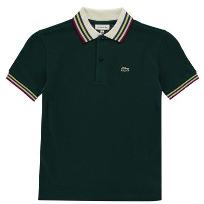 Tricouri Polo Lacoste verde stripe