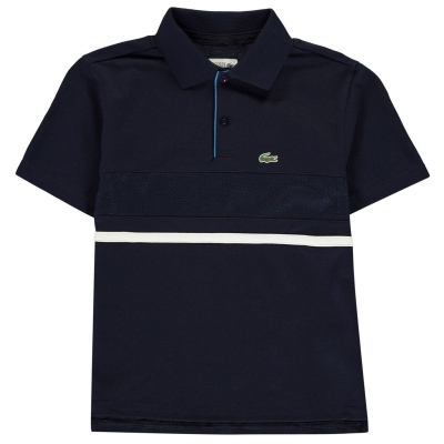 Tricouri Polo Lacoste Chest bleumarin albastru