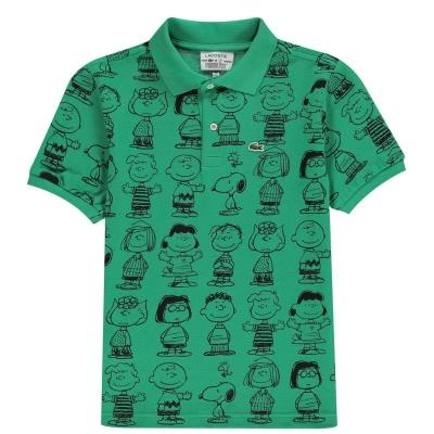 Tricouri polo Lacoste Juniors cu imprimeu verde xwc