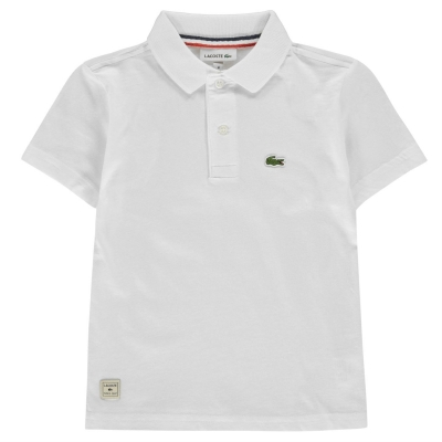 Tricouri Polo Lacoste Jersey Logo pentru baietei alb
