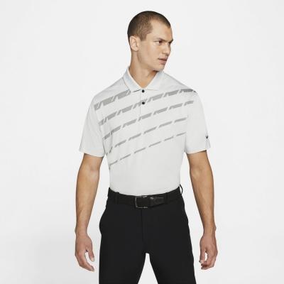 Tricouri Polo Nike Dri-FIT Vapor imprimeu Graphic Golf pentru Barbati gri