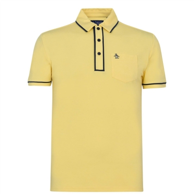 Tricouri Polo Original Penguin Sleeve Oxford aspen auriu