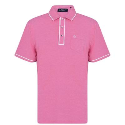 Tricouri Polo Original Penguin Sleeve Oxford very roz inchis
