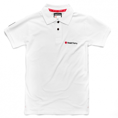 Tricouri polo Ozoshi Takeshi alb O20PSBR001 pentru Barbati
