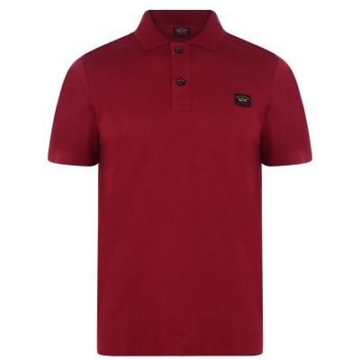 Tricouri Polo PAUL AND SHARK cu maneca scurta rosu burgundy