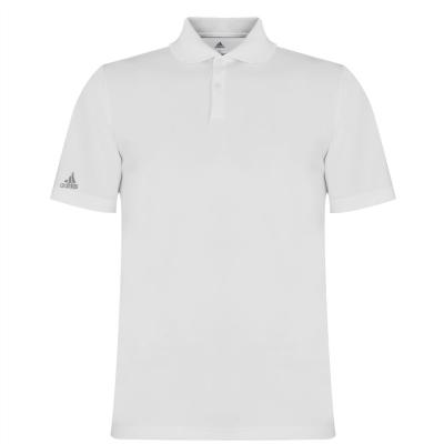 Tricouri polo pentru golf adidas alb