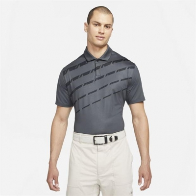 Tricouri Polo Nike Dri-FIT Vapor imprimeu Graphic Golf pentru Barbati negru