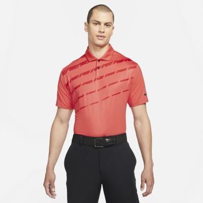 Tricouri Polo Nike Dri-FIT Vapor imprimeu Graphic Golf pentru Barbati rosu
