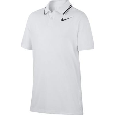 Tricouri polo pentru golf Nike Dri-FIT Victory pentru baieti alb