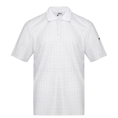 Tricouri polo pentru golf Slazenger Check pentru Barbati alb