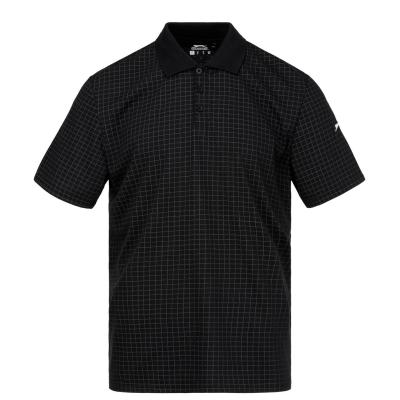 Tricouri polo pentru golf Slazenger Check pentru Barbati negru