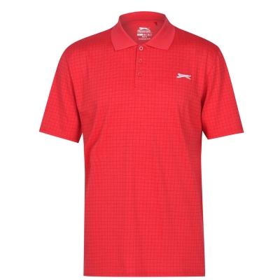 Tricouri polo pentru golf Slazenger Check pentru Barbati rosu