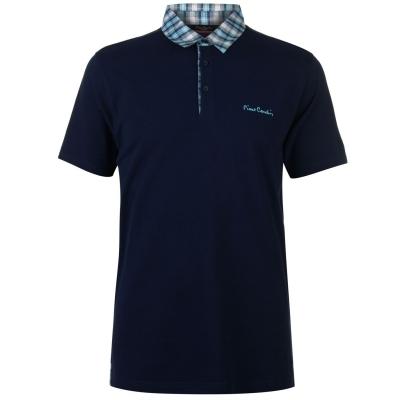 Tricouri polo Pierre Cardin cu Maneca Scurta cu guler cu patratele pentru Barbati bleumarin