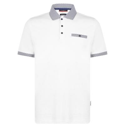 Tricouri Polo Pierre Cardin cu buzunar Detail pentru Barbati alb