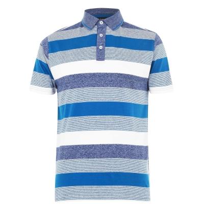 Tricouri polo cu dungi Pierre Cardin Shirt pentru Barbati bleu denim alb