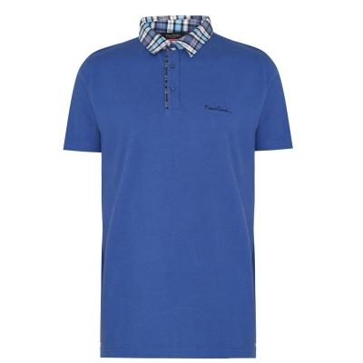 Tricouri Polo Pierre Cardin cu guler cu patratele pentru Barbati albastru