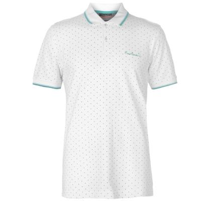 Tricouri polo Pierre Cardin cu imprimeu pentru Barbati alb