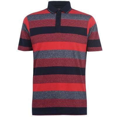 Tricouri Polo Pierre Cardin Dye Jersey pentru Barbati rosu bleumarin gri