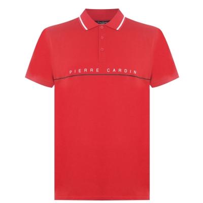 Tricouri Polo Pierre Cardin Logo Print pentru Barbati rosu