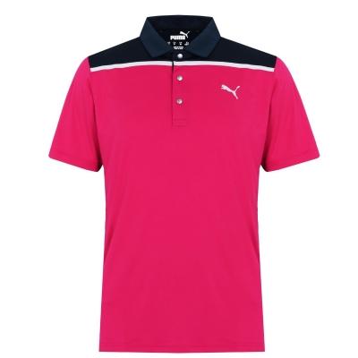 Tricouri Polo Puma Rotation pentru Barbati rosu bleumarin blazer