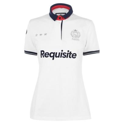 Tricouri Polo Requisite Logo pentru Femei alb
