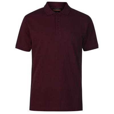 Tricouri polo simple Pierre Cardin pentru Barbati rosu burgundy