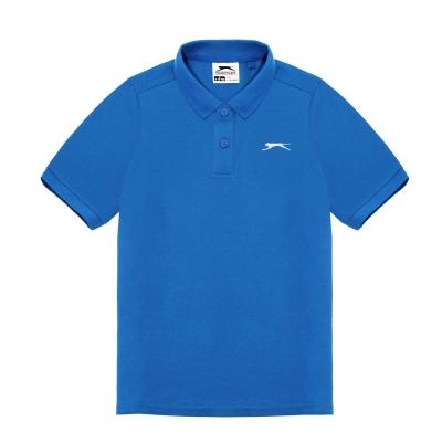 Tricouri polo simple Slazenger pentru baietei albastru roial