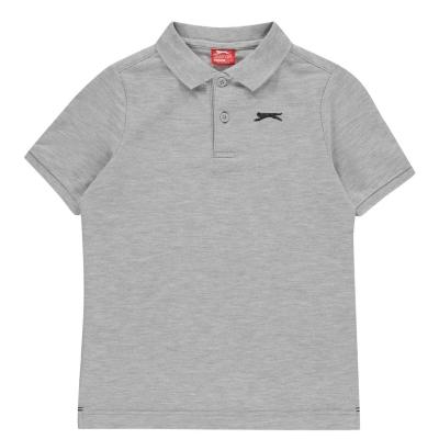 Tricouri polo simple Slazenger pentru baietei gri