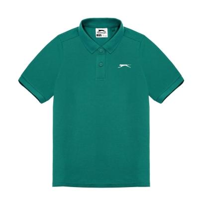 Tricouri polo simple Slazenger pentru baietei bleu albastru